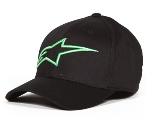 Boné Alpinestars Logo Astar - Preto/Verde