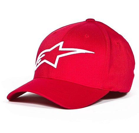 Boné Alpinestars Logo Astar Red White Original Flex Fit