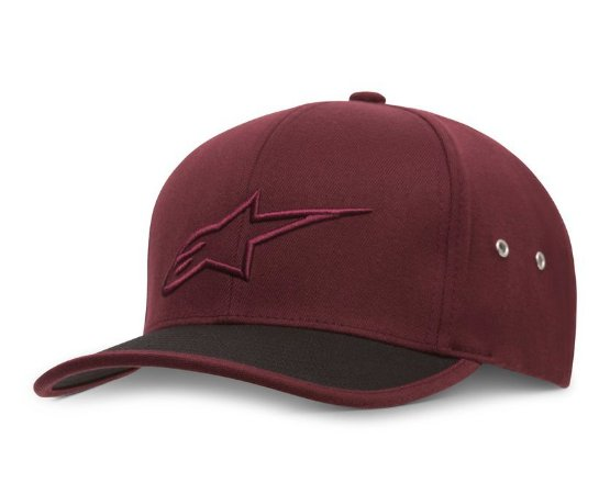 Boné Alpinestars Bend Dark Red Original Flex Fit