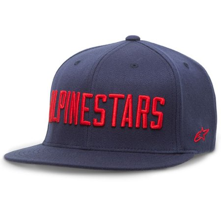 Boné Alpinestars Big Word Navy Original Aba Reta Flex Fit