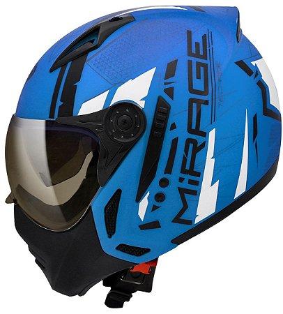 Capacete Peels Mirage TechRide Fosco Azul Ciano