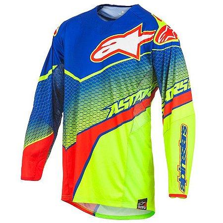 Camisa Motocross Alpinestars Techstar Venon 17 Ama Azul Verm