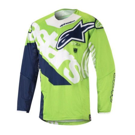 Camisa Cross Motocross Alpinestars Techstar Venon 18 verde