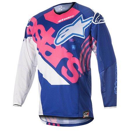 Camisa Cross Motocross Alpinestars Techstar Venon 18 Rosa