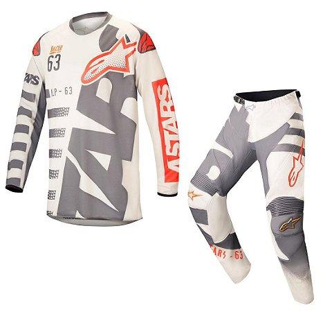Conjunto Motocross Alpinestars Racer Braap 18 Areia Vermelho