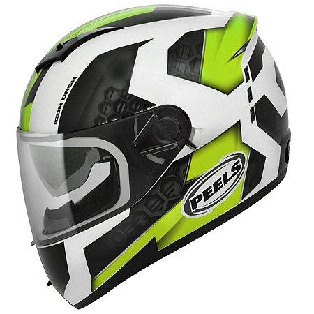 Capacete Peels Icon Dash Branco Verde