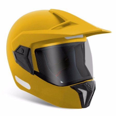 Capacete Bieffe 3 Sport Amarelo Mototaxi Moto Taxi Motoboy