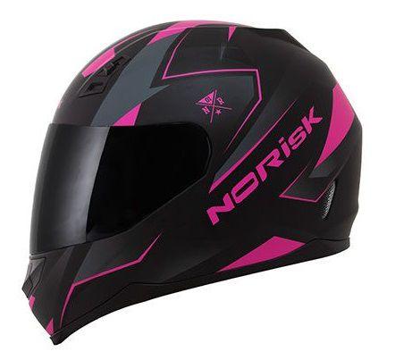 Capacete Norisk FF391 Stripes - Preto/Rosa