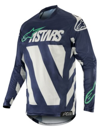 Camisa Cross Alpinestars Racer Braap 2019 Cinza Verde Agua