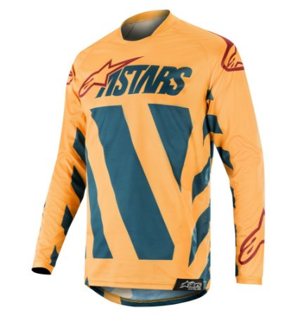 Camisa Cross Alpinestars Racer Braap 2019  Tangerina Petrol