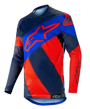 Camisa Cross Alpinestars Racer Tech Atomic 2019 Vermelho