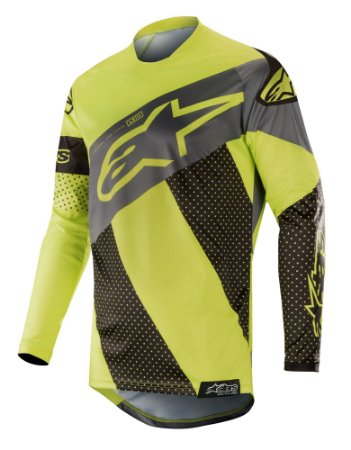 Camisa Cross Alpinestars Tech Atomic 2019 Preto Amarelo