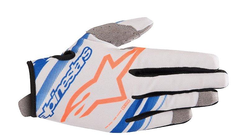 Luva Cross Motocross Alpinestars Radar 2019 Cinza Azul Laran