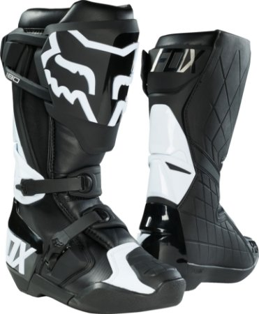 Bota Cross Motocross  Off Road Fox 180 Preta e Branca