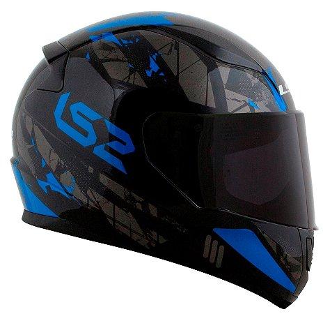 Capacete LS2 FF353 Rapid Palimnesis - Azul/Preto Brilho