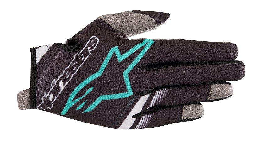 Luva Cross Motocross Alpinestars Radar 2019 Preto Verde Agu
