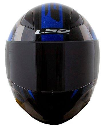 Capacete Ls2 FF353 Rapid Medal - Azul/Preto/Cinza Brilho