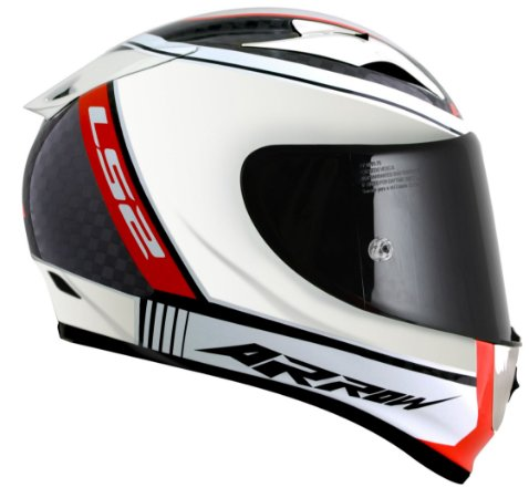 Capacete LS2 FF323 Arrow C Indy  - Branco/Preto/Vermelho