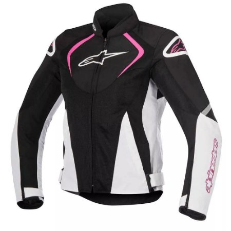 Jaqueta Alpinestars T-jaws V2 Air Black White Fuchsia