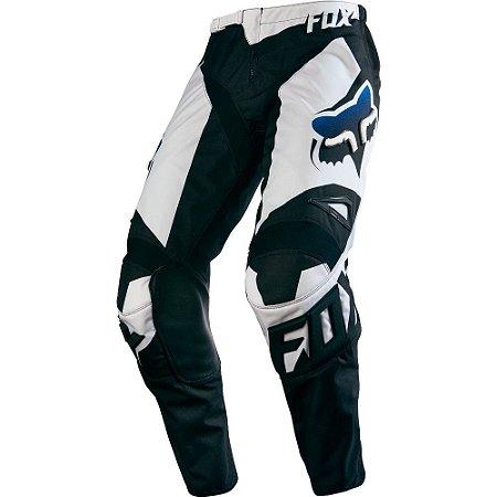 Calça Motocross Fox 180 Race 16 Preta Branca Trilha
