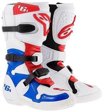 Bota Motocross Alpinestars Tech 6s Infantil Juvenil