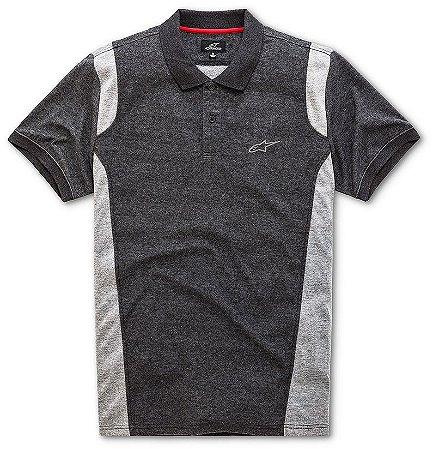 Camisa Alpinestars Polo Double Cinza Escura com Cinza Claro