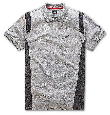 Camisa Alpinestars Polo Double Cinza Preta