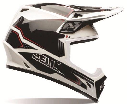 Capacete Motocross Bell MX-9 Blockade - Preto/Branco/Vermelho