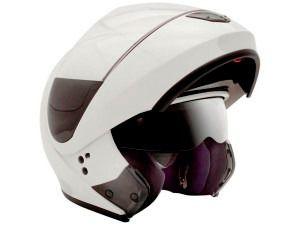 Capacete Peels Urban Branco Brilho Robocop Escamoteavel