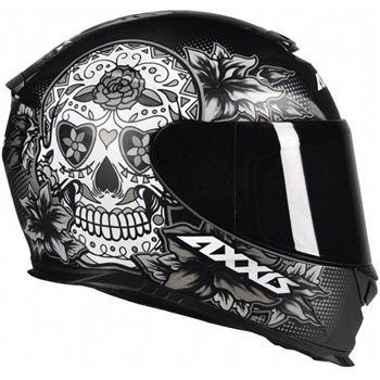 Capacete Axxis Eagle Skull - Preto/Cinza