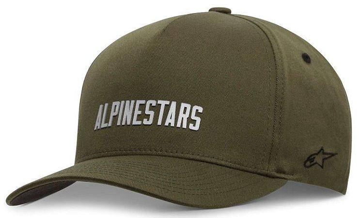Boné Alpinestars Law - Verde Militar/Branco