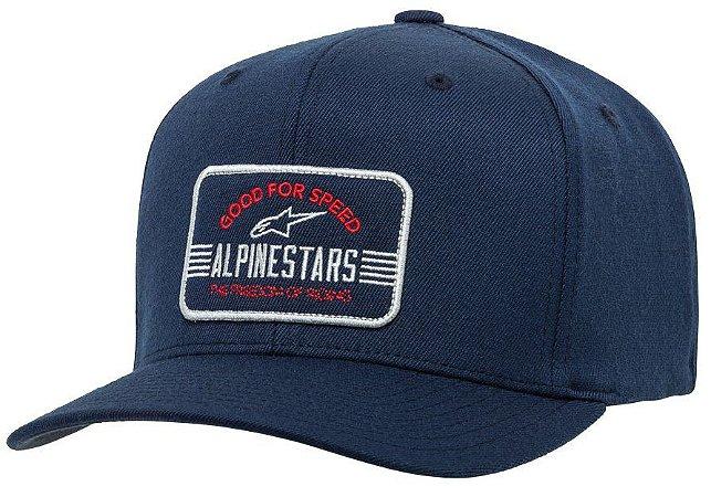 Boné Alpinestars Bars - Azul/Vermelho/Branco