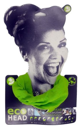 Bandana Ecohead Lenço Gorro Mascara Balaclava Eco Head Verde
