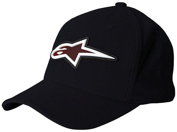 Boné Alpinestars Rubber Logo - Preto