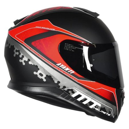 Capacete MT Thunder3 Avanti Matt Black Red