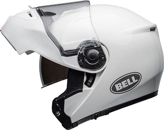 Capacete Bell STR Modular Robocop Fibra Vidro Branco