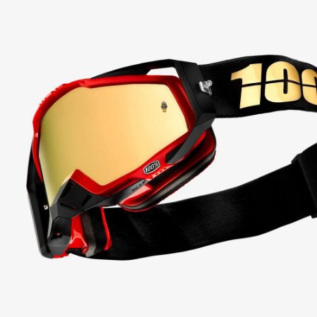 Óculos Motocross 100% THE RACECRAFT HOT ROD Vermelho
