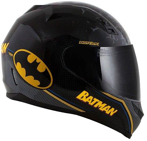 Capacete Norisk FF391 Batman Symbol - Preto/Amarelo