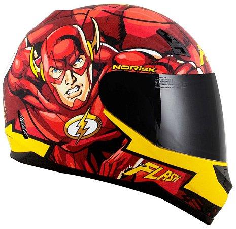 Capacete Norisk FF391 Flash Hero - Vermelho/Amarelo