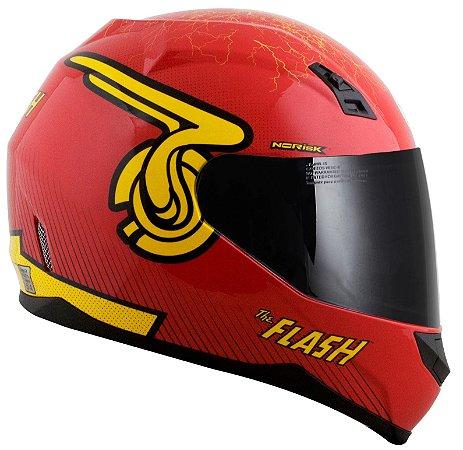 Capacete Norisk FF391 Flash Symbol - Vermelho/Amarelo
