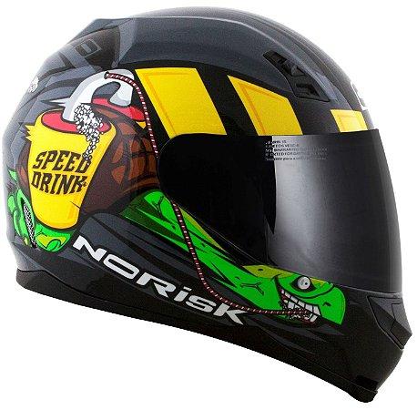 Capacete Norisk FF391 Speed Drink - Cinza