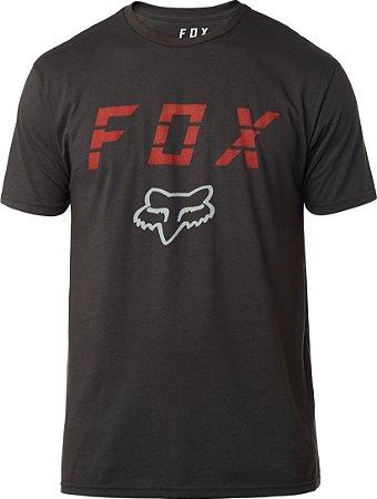 Camiseta Fox Smoke Blower Premium Preta Sem costura Lateral