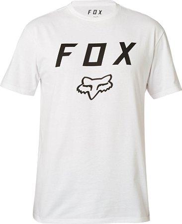 Camiseta Fox Legacy Moth Branca Sem Costura Lateral Original