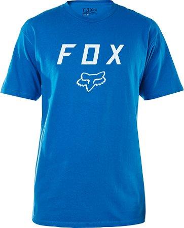 Camiseta Fox Legacy Moth Azul Sem Costura Lateral Original