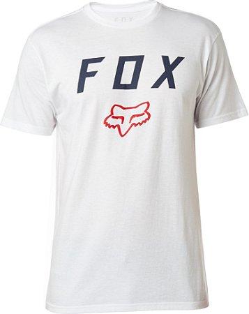 Camiseta Fox Contended Branca Sem Costura Lateral Original