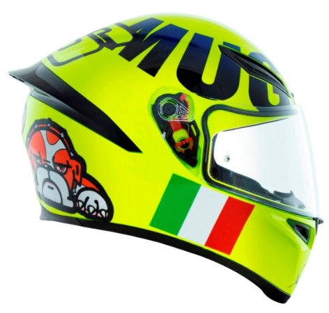 Capacete Agv K1 Mugiallo - Amarelo Fluor - Valentino Rossi