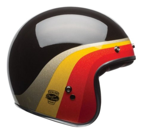 Capacete Bell Custom 500 Chemical Candy Retro Café Racer