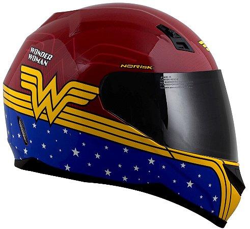 Capacete Norisk FF391 Wonder Woman Symbol - Vermelho/Azul