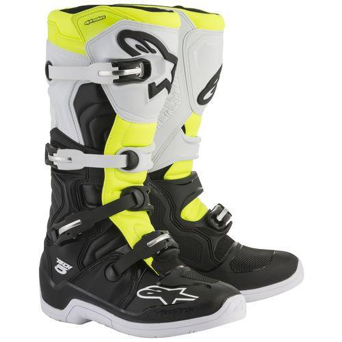 Bota Motocross Alpinestars Tech 5 Tech5 Preta Amarela Branca