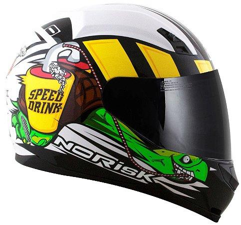 Capacete Norisk FF391 Speed Drink - Branco